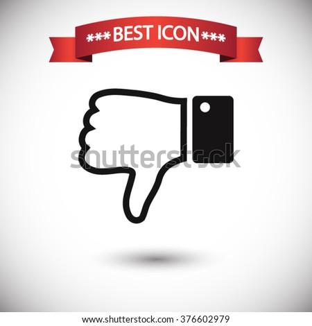 Thumb down icon vector - stock vector