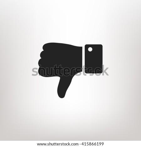 Thumb down icon vector, Thumb down icon eps10, Thumb down icon picture, Thumb down icon flat, Thumb down icon, Thumb down web icon, Thumb down icon art, Thumb down icon drawing, Thumb down icon - stock vector