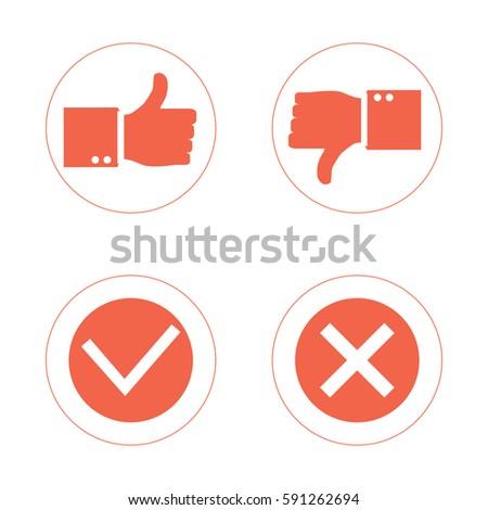Thumb Thumb Down Symbol Icon Isolated Stock Vector 591262694
