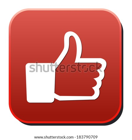 thumb up icon - stock vector