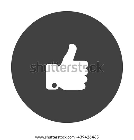 thumb up Icon, flat design style