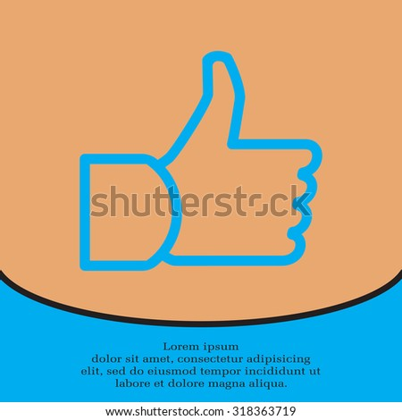 thumb up icon, vector illustration