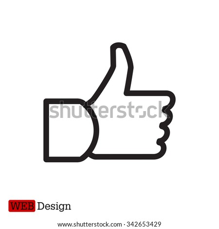 thumb up icon, vector illustration - stock vector