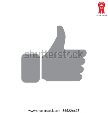 thumb up icon, vector illustration - stock vector