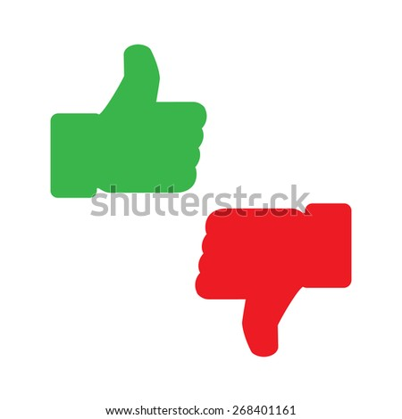 thumb up icons, vector illustration - stock vector