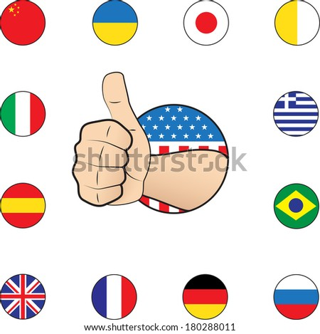 Thumb up nations eps10 - stock vector