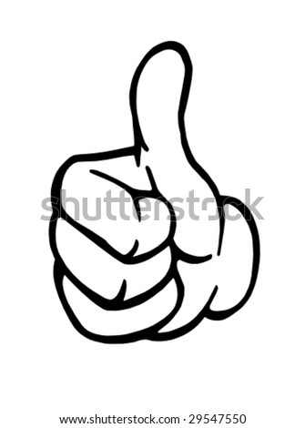 thumb up vector - stock vector