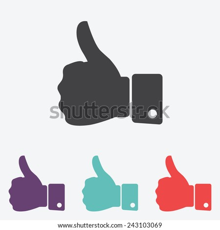 thumb up vector icon - stock vector