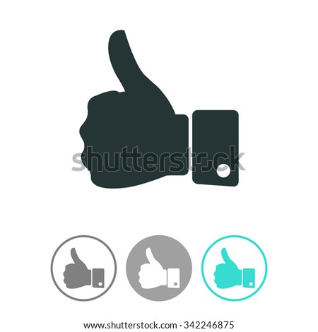 Thumb up vector icon.