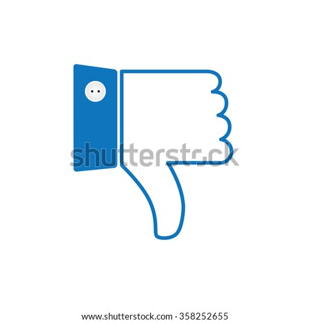 thumbs down or dislike hand vector icon for social media websites and mobile apps - stock vector