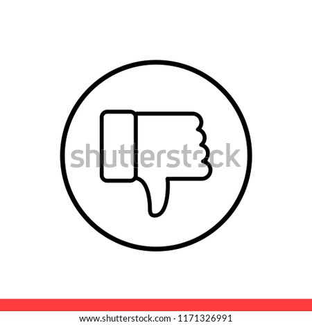 Thumbs Down Vector Icon Dislike Symbol Stock Vector Royalty Free