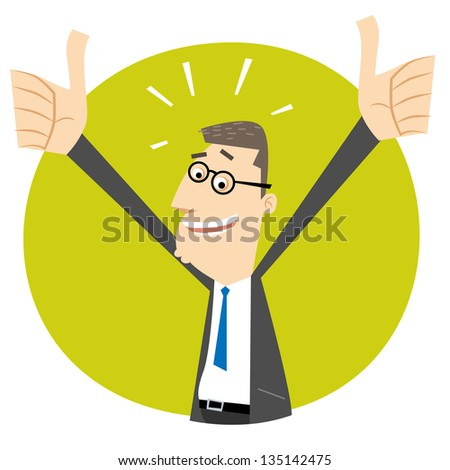 Thumbs up - stock vector