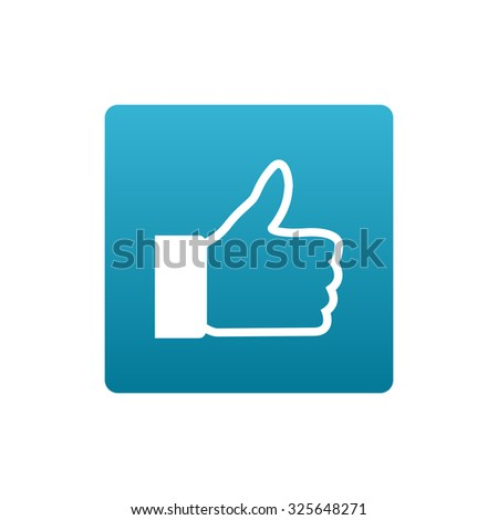 Thumbs up. Facebook like icon - stock vector