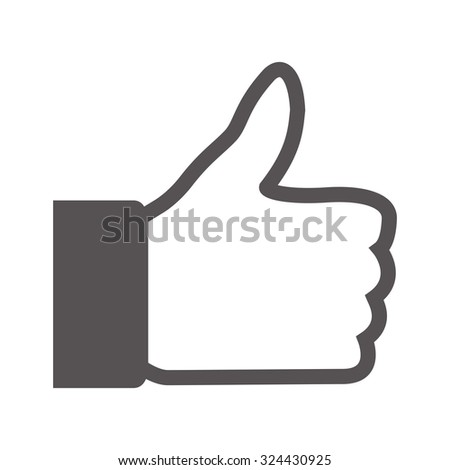 Thumbs up hand icon - stock vector