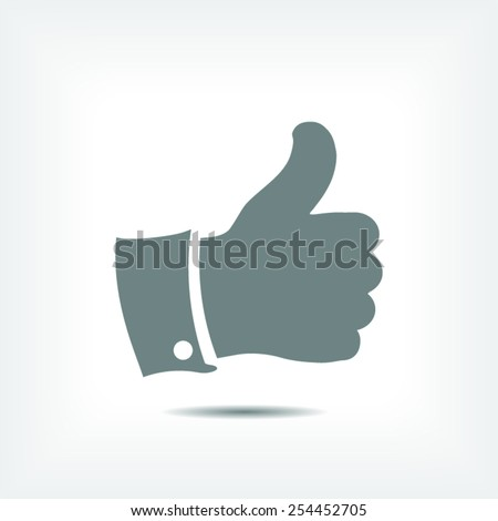 thumbs up icon , vector illustration. Flat design style