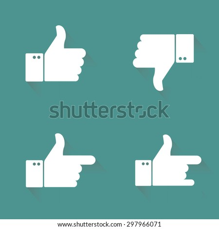 Thumbs up icons set - stock vector