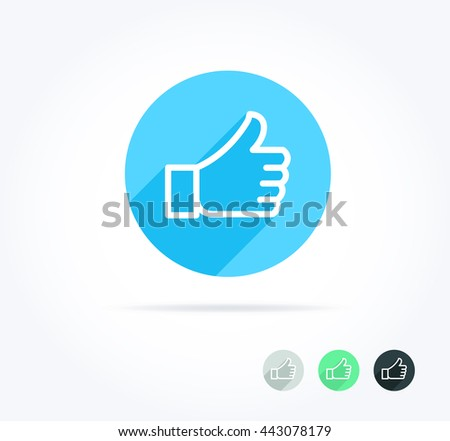 Thumbs Up Long Shadow Icon