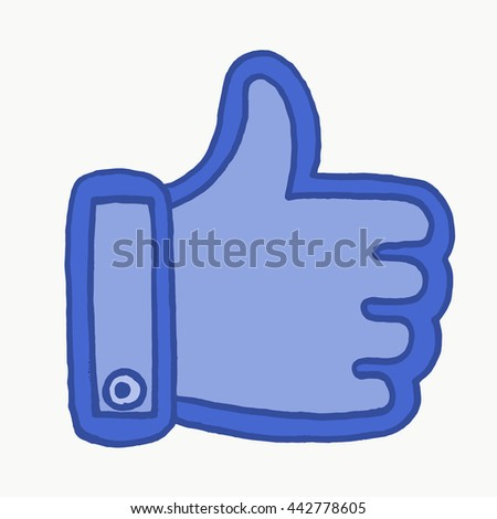 Thumbs up on white background. Vector illustration. Like symbol. Like facebook. Like icon. logo. Like this. Like it. Like hand. Like button. Thumbs up woman. Thumbs up icon. Thumbs up logo. Thumbs up. - stock vector