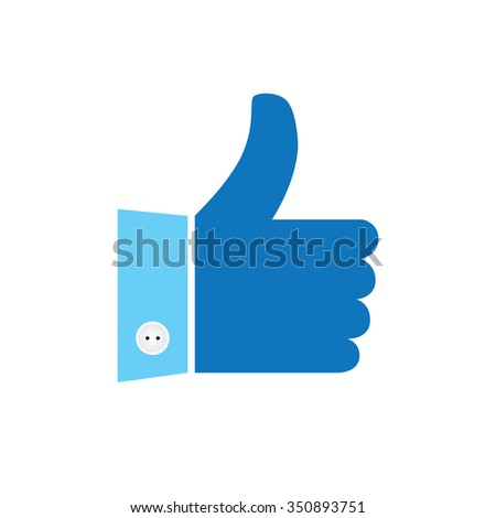 thumbs up or like hand vector icon for social media websites and mobile apps - stock vector