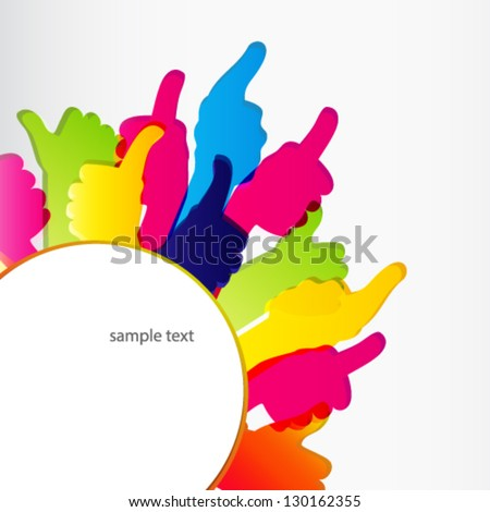 Thumbs Up symbol. Abstract background.  Vector illustration. - stock vector
