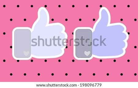 Thumbs up symbol Vector Illustration. - stock vector