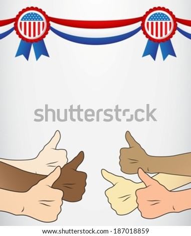 thumbs up United States eps10 - stock vector