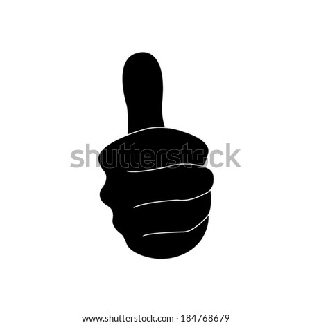 thumbs up - vector icon - stock vector