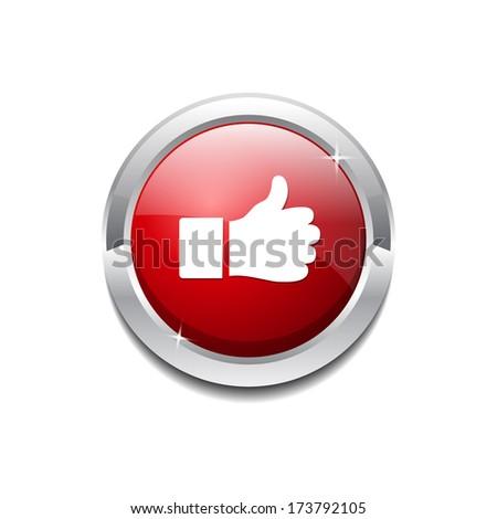 Thumbs Up Vector Icon Button - stock vector