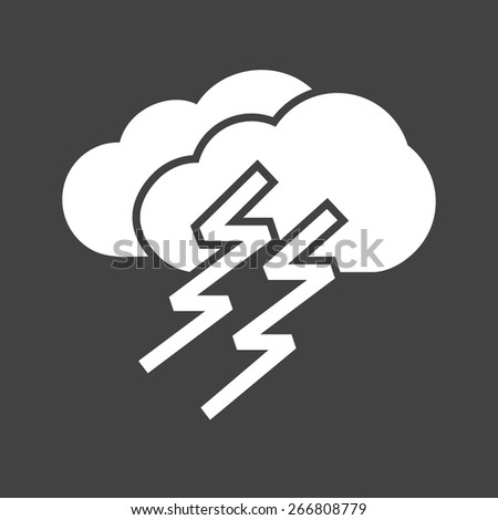 Thunder, cloud, lightning, storm icon vector image. Can also be used for weather, forecast, season, climate, meteorology. Suitable for web apps, mobile apps and print media. - stock vector