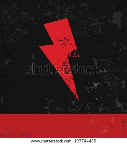Thunder storm symbol,grunge vector - stock vector