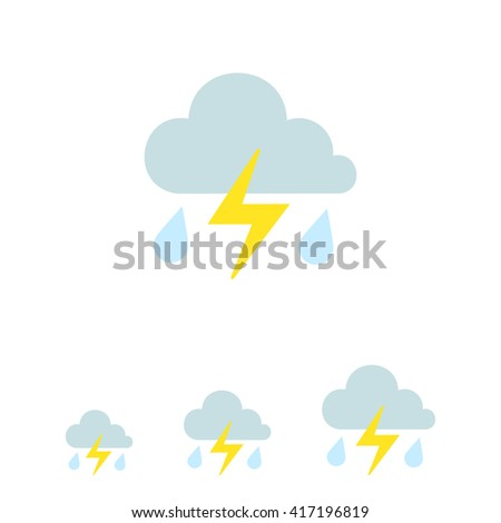 Thunderstorm icon - stock vector
