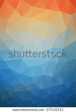 Tial orange polygonal background for your web design - stock vector