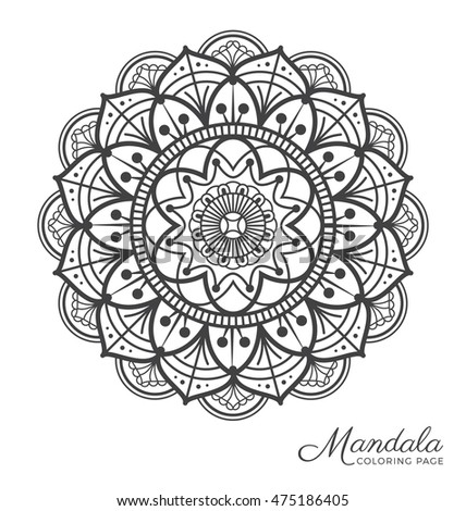 Indian mandala stock images royalty free images vectors for Tibetan mandala coloring pages