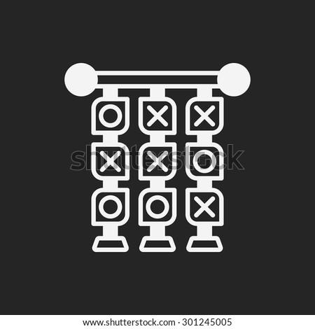 Tic Tac Toe icon - stock vector