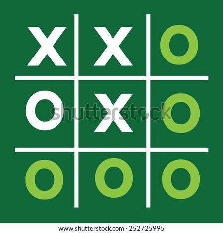 tic tac toe XO game ,  tic, tac, toe, x, game, o, - stock vector