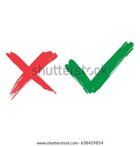 tick cross signs green checkmark ok stock vector hd royalty free rh shutterstock com check mark symbol vector check mark vector png