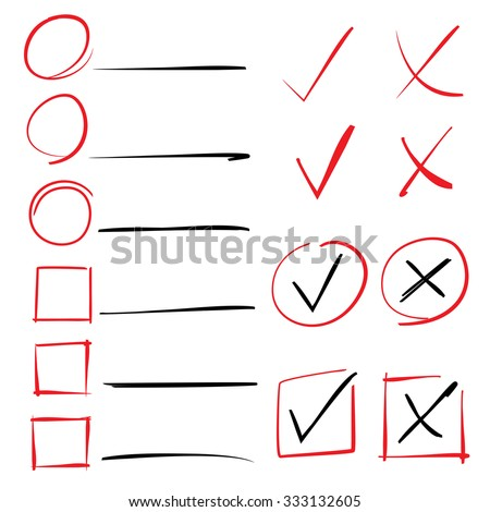 tick, check box, marker - stock vector
