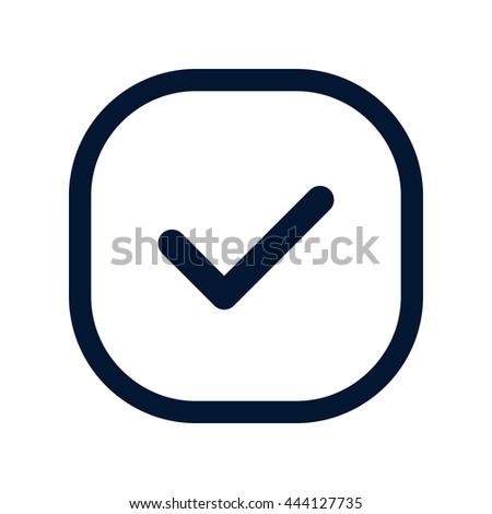 Tick check mark - stock vector