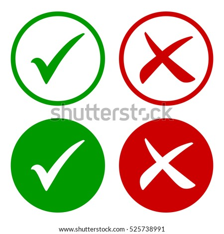 Tick Icon Set Stylish Check Mark Stockvector 525738991 Shutterstock