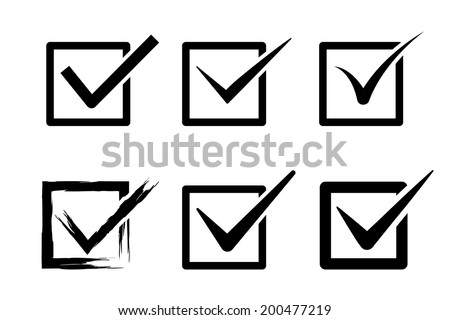 tick (mark) box icons. vector set. eps8 - stock vector