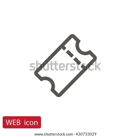 Ticket icon vector,  - stock vector
