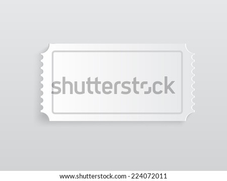 ticket on background - stock vector