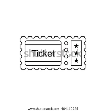 Ticket outline icon