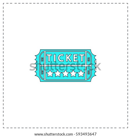 ticket outline vector icon black editable stock vector 593493647