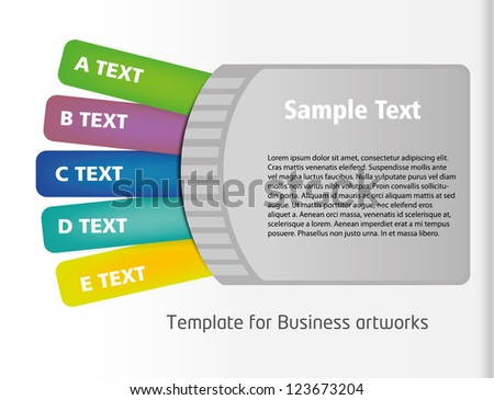 Ticket style business folder template colorful stock vector 2018 ticket style business folder template with colorful listing flashek Image collections