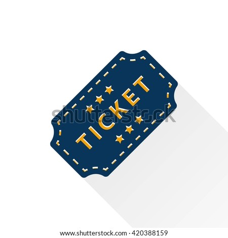 Ticket    vector icon. Illustration isolated for graphic and web design.