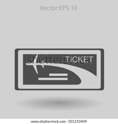 Ticket vector illustration - stock vector