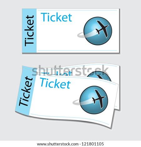 tickets - stock vector