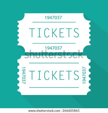 Tickets icon - stock vector