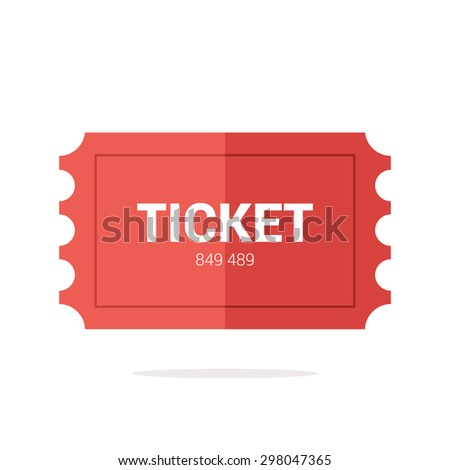 Tickets icon. Flat design. Vector illustration  - stock vector
